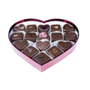 Missionary Chocolates 16 Piece Heart Box